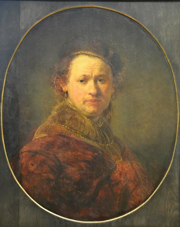 Rembrandt van Rijn - Self Portrait, 1650 at Staatliche Kunsthalle Karlsruhe Germany