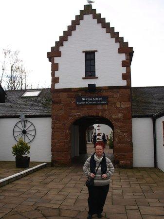 Gretna Hall: Blacksmiths 500 yrds down road