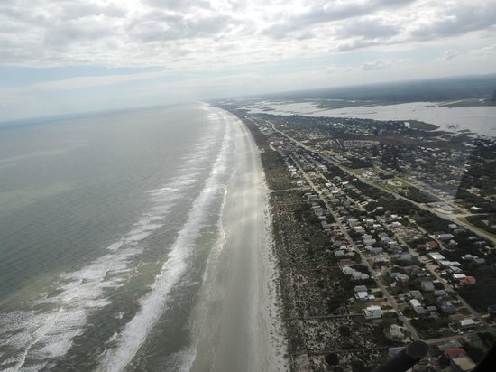 Old City Helicopters: st.augustine beach coastline