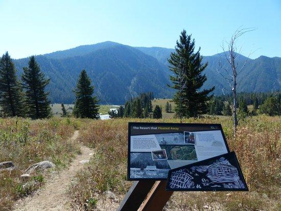 Earthquake Lake: On the trail at Rescue Point - Quake Lake