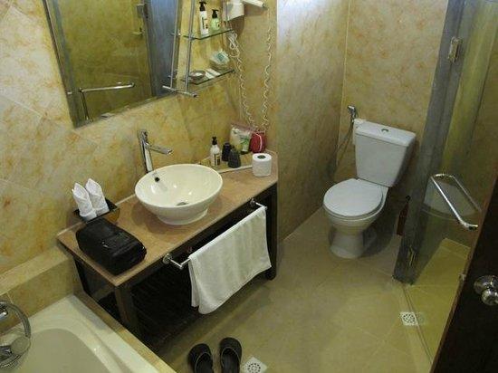 Pavillon d'Orient Boutique-Hotel: Bathroom in older section