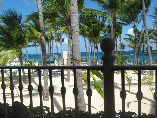 Hotel Riu Palace Punta Cana: View from the lunch buffet