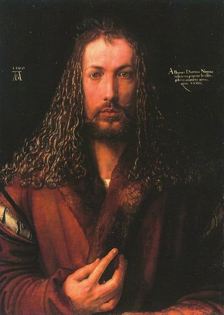 Staedel Museum : Albrecht Dürer - Self Portrait at Dürer Exhibit