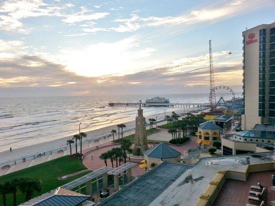 Hilton Daytona Beach / Ocean Walk Village: View from our room