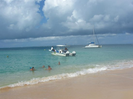 Coconut Reef Power Boat Tours & Charters: In Tintamarre beach