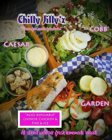 Chilly Jilly'z Bakery & Cafe: Fresh Salads