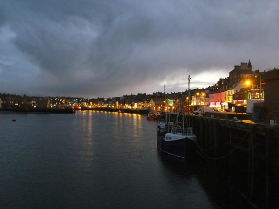 Evening in Whitby harbour