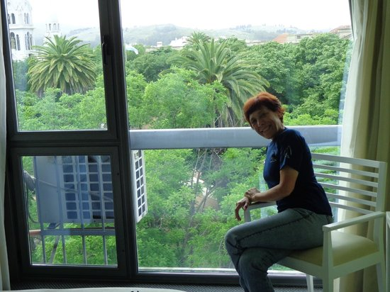 Plaza Hotel: Vista desde la habitación.