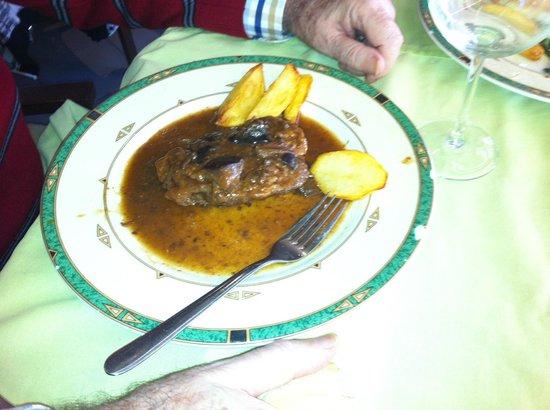 Restaurante Nagora: Plato principal.