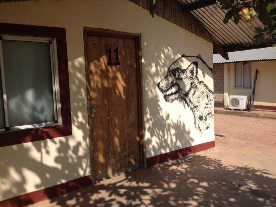 Rumbek, Sør-Sudan: Outside of cabin