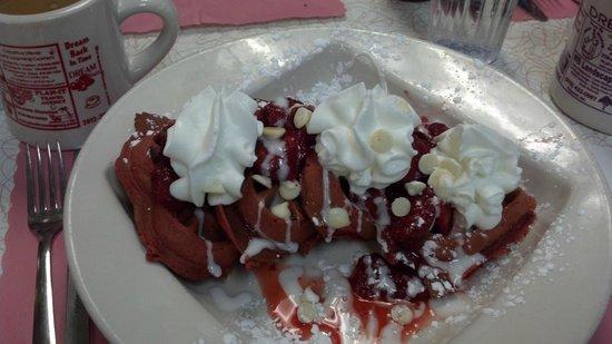 Dream Diner: Red Velvet Waffles