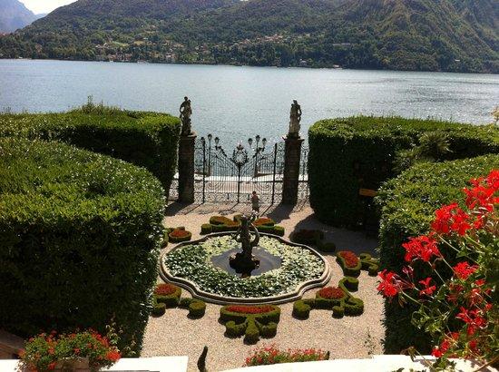 Lago di Como, Veduta dall'ingresso di Villa Carlotta