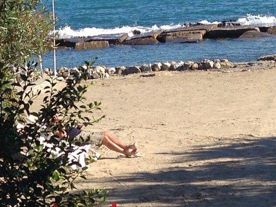Ottobre: la spiaggia di Villa Marina è tutta per me