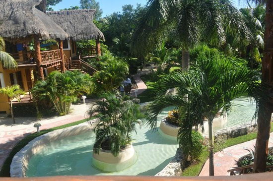 Mahekal Beach Resort: View from room - a garden palapa