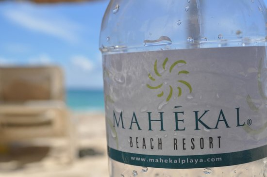 Mahekal Beach Resort: Complimentary water each day with the room