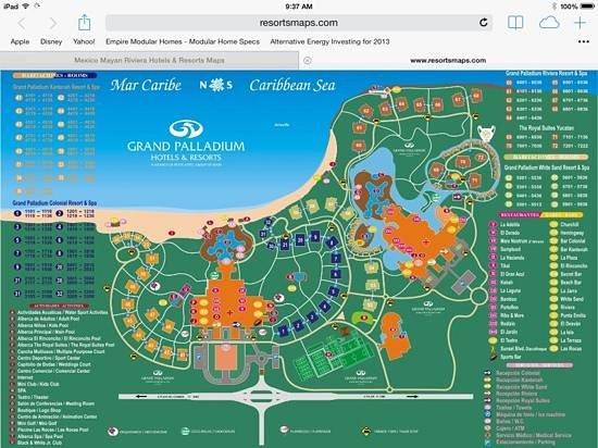 resort map - Picture of Grand Palladium Riviera Resort & Spa ...