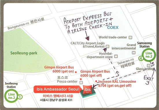 ibis styles Ambassador Seoul Gangnam: Area Map