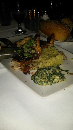 Del Frisco's Double Eagle: Pan Chicken With Rice