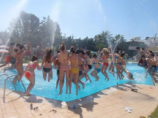 Pool Party Picture Of Yiannis Manos Apartments Malia