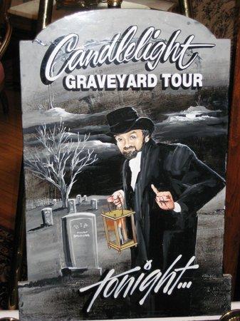 Annapolis Royal Candlelight Graveyard Tour: Poster for the Candlelight Graveyard Tour