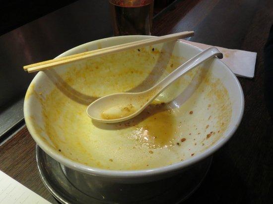 Naniwa: Our finished tan tan noodles