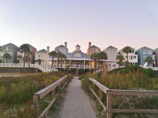Wild Dunes Resort: Looking back at resort from oceanfront