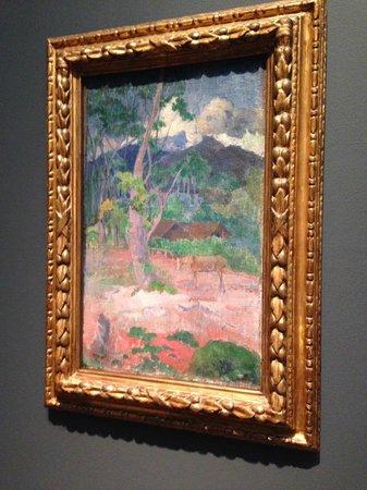Saint Louis Art Museum: Paul Gauguin - Landscape with a Horse  (oil on burlap)