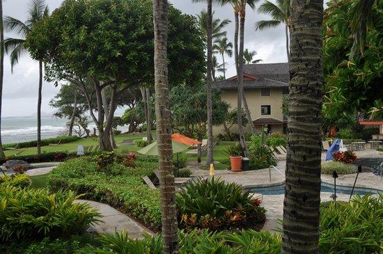 Kauai Coast Resort at the Beachboy : view from lanai, pool and ocean