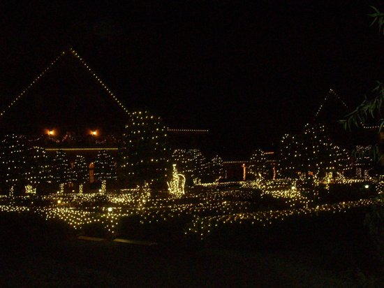 The Founders Inn and Spa: Christmas Lights of Grounds from Back of Property