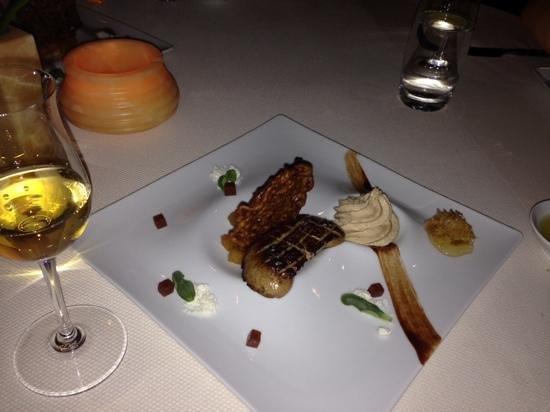 Kai Restaurant: Seared Hudson Valley Foie Gras with Pumpkin Spice Funnel Cake