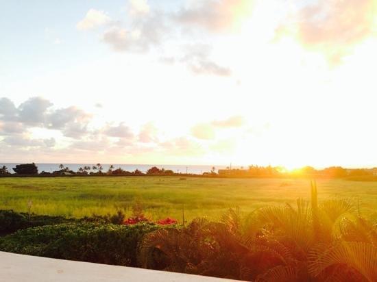 Merriman's Poipu : sunset view at merrimans