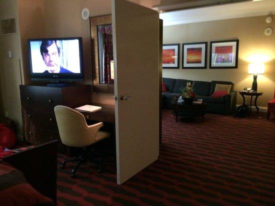 Eldorado Resort Casino: 18th floor view of living room from bedroom