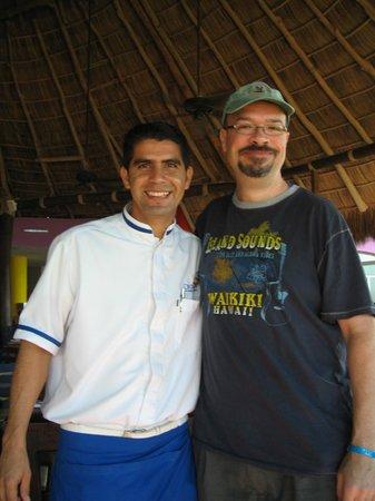 Royal Decameron Complex: Flamingo Buffet - Alejandro and I - GREAT Server!