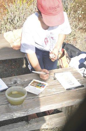 Suzi Marquess Long: My 10 year old son in Suzi's watercolor class