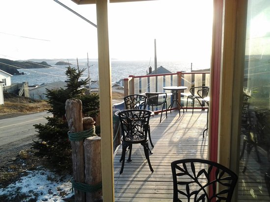 Gorgeous view, Dec. 1, 2013. Crow's Nest Cafe, near Twillingate