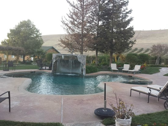 The Purple Orchid Wine Country & Spa: Pool with waterfall & jacuzzi's