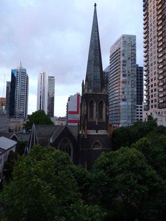 Vue depuis la chambre au Grand Chancellor Melbourne