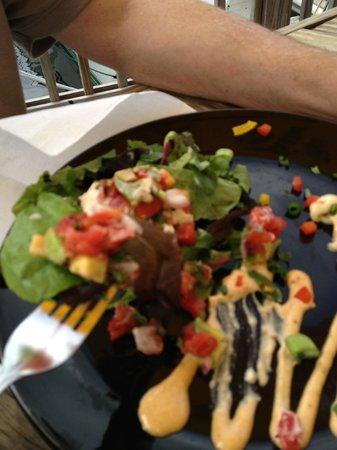 Zeke's Bayside Restaurant : Crab tower appetizer (already broken down!)
