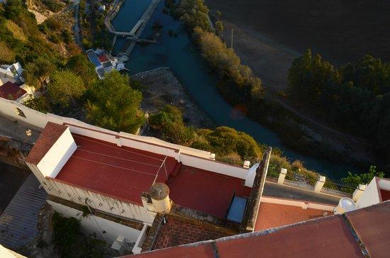 Casa El Sueno: View looking down from roof terrace