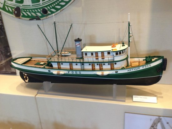 Museum of History & Industry: Model of a local tug