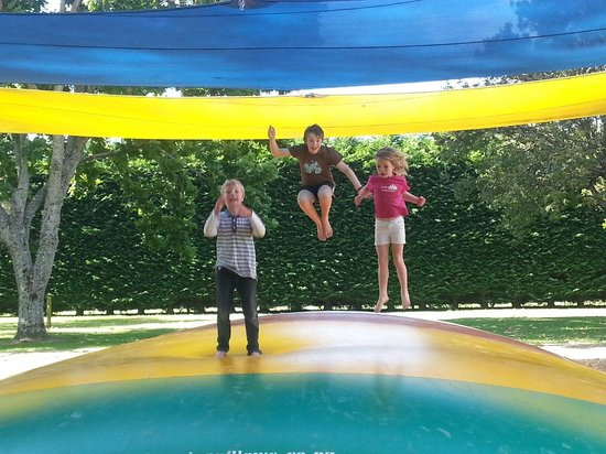 Motueka TOP 10 Holiday Park : Jumping pillow to ourselves