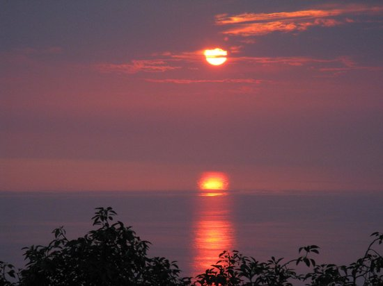Belle Vue Kona B&B: sunset from the lanai