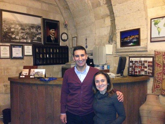 Cappadocia Palace : With Yasin in the lobby
