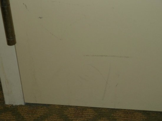 Kitchener Inn and Suites: more marks on walls