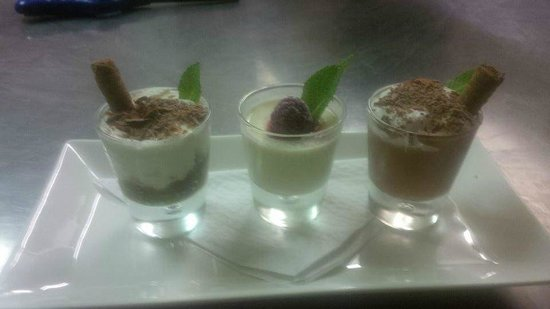 Trio of desserts at Mamma Mia.