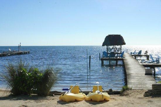 Colinda Cabanas: View of dock.