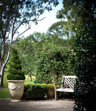 Courtyard garden picture of hillstone st lucia for Courtyard landscaping brisbane