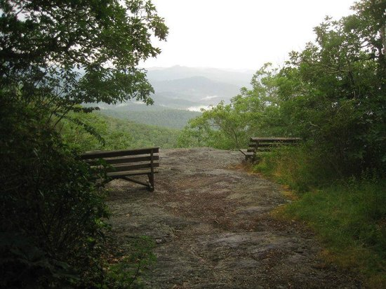 The Mountain Retreat and Learning Center: Meditation Rock - after a summer storm