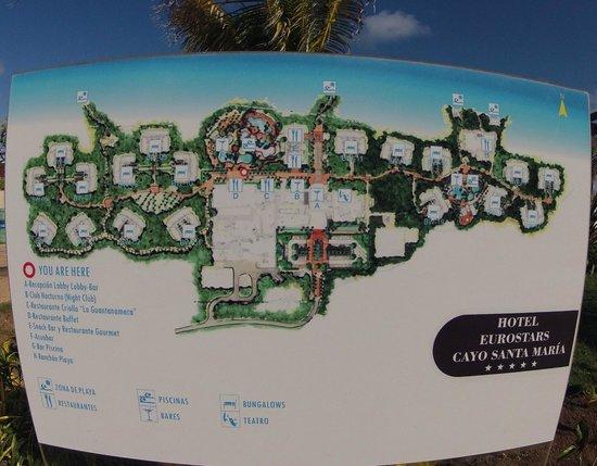 Map of resort Picture of Golden Tulip Aguas Claras Cayo Santa