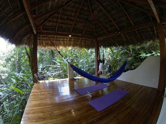 Prana Rainforest Retreat: Our favorite place, the pavilion.